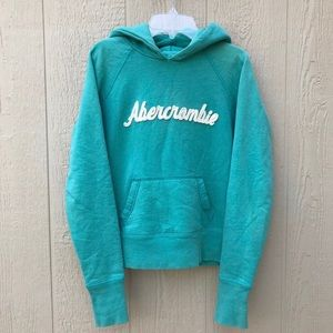 [A&F Abercrombie & Fitch] Teal Blue Green Hoodie M